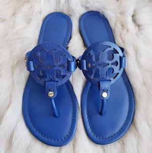 Tory Burch Blue Miller Sandal Size 7.5M